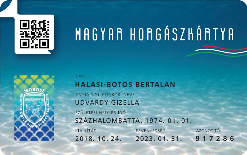Horgászkártya regisztráció az RDHSZ irodában szombaton is!